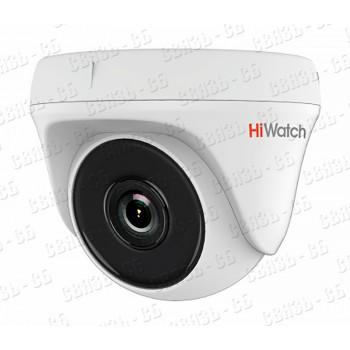 """DS-T133 (2.8 mm) 1Мп внутренняя купольная HD-TVI камера с EXIR-подсветкой до 20м¶1/4"""" CMOS матрица;"""
