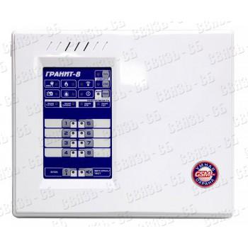 Прибор Гранит 8А, 8 зон, GSM-терминал, автодозвон по линиям ГТС, речевые сообщения, РИП