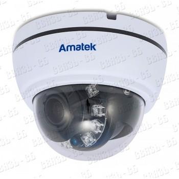 В/камера АМАТЕК цв.,купол, AHD,TVI,CVI,CVBS. 2 Мп, AC-HD202VS v.2 (2,8-12)