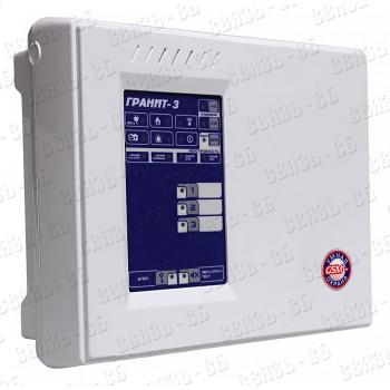 Гранит-3А Прибор приемно-контрольный, 3 зоны, автодозвон, GSM-сигнализация (2 SIM-карты+ГТС)