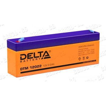 Аккумулятор АКБ Delta DTM 12022 (12V, 2.2Ah)