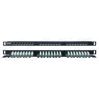 """PPHD-19-24-8P8C-C5E-110D Патч-панель Hyperline 19"""", 0,5U, 24 порта RJ-45, категорити 5е"""