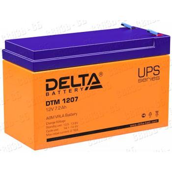 Аккумулятор АКБ Delta DTM 1207 (12V, 7Ah)