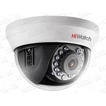DS-T101 (2.8 mm) 1Мп внутренняя купольная HD-TVI камера с ИК-подсветкой до 20м