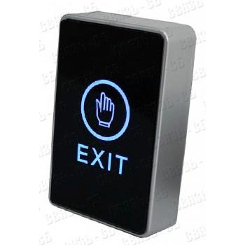 Кнопка выхода TS-MAGIC сенсорная, подсветка, питание 12-24В DC, реле 3А, 30В, COM/NO/NC, накладная,