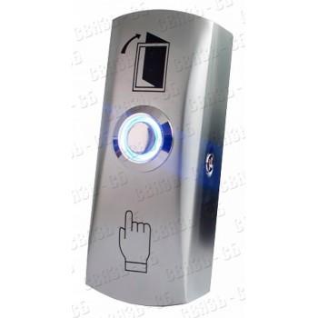 Кнопка выхода TS-CLICK  light металлическая, накладная, НО, коммутируемый ток - 3А, 83х32х25мм