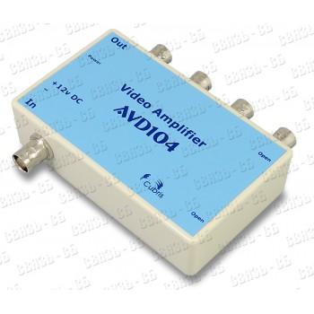 Видеоусилитель-разветвитель AVD 104