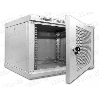 """SN-Tsn 19"""" 6U450W-PD Настенный телекоммуникационные шкаф высотой 6U, глубиной 450мм"""