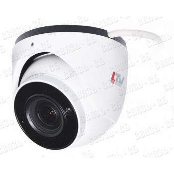 LTV CNE-924 48 IP видеокамера, шар, 2мп, 2.8-12мм, DWDR, 0.0035 lux, H.265 / H.264 / MJPEG, - 40 °C