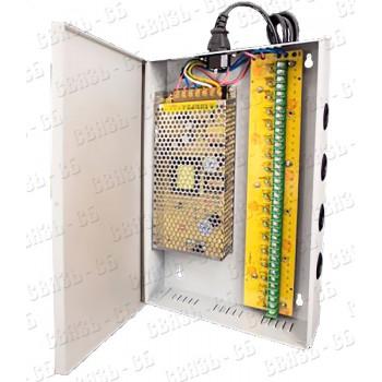 FE-DDH-18ch-10/12 Источник питания 12В 10А 60Вт для систем видеонаблюдения на 18 выходов.