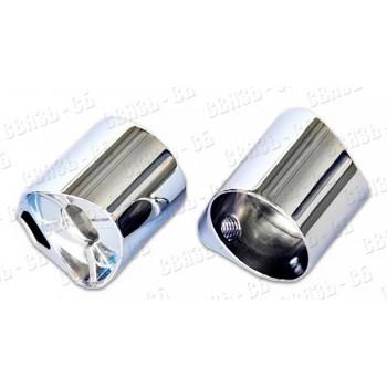 PERCo-BH02 0-10 Патрубок прямой хромированный для крепления поручней (в комплекте с крепежом)