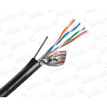 Кабель FTP  4PR  24AWG  4х2х0,51 CAT5e  305м Cu Outdoor (PE) + ТРОС Skynet Premium