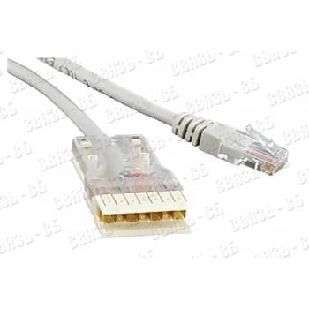Патч-корд Hyperline PC-110-RJ45-4P-C5e-2M-LSZH-GY 110 тип - RJ-45, 4 пары, Cat.5e, LSZH, 2 м, серый