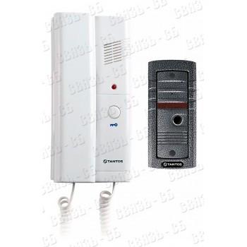 TANTOS TS-203Kit - комплект аудиодомофона, состоит из вызывной панели и аудиотрубки