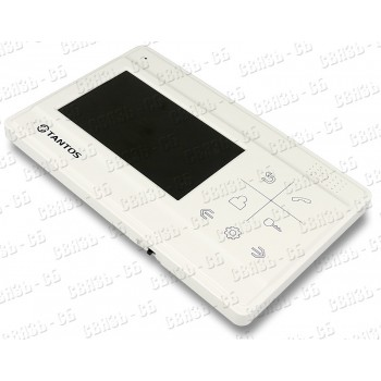 """Монитор LILU , цв. TFT LCD 4,3"""", сенсорные кнопки, hands-free, 2 вх. для вызывных пан"""
