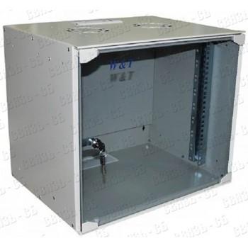 """P065240GW Шкаф 19"""" настенный 6U 520x400mm серый, дверь стекло, без вентилятора, 1 пара направляющих"""