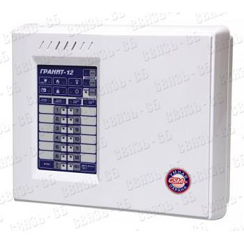 Гранит-12А Прибор приемно-контрольный 12 зон, автодозвон, GSM-сигнализация (2 SIM-карты+ГТС)