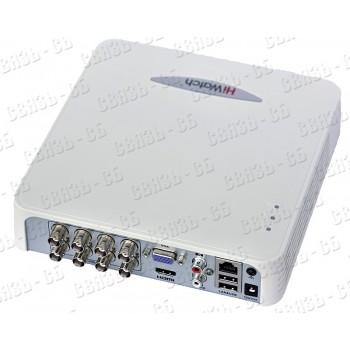 DS-H108G, 8-ми канальный гибридный HD-TVI регистратор для  аналоговых, HD-TVI, AHD и CVI камер + 2 I