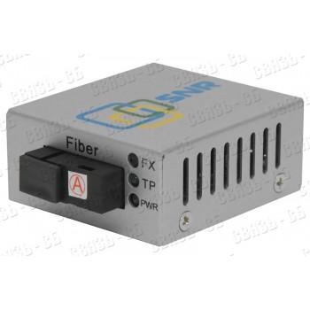 SNR-CVT-100A Медиаконвертер 10/100 Base-T/100 Base-FX, TX/RX: 1310/1550нм