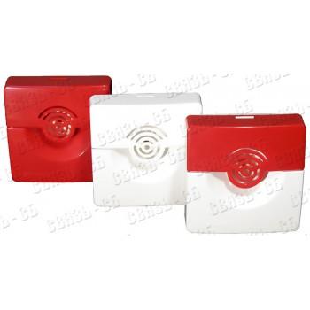 Оповещатель охранно-пожарный звуковой ОПОП 2-35 12В (Красный)