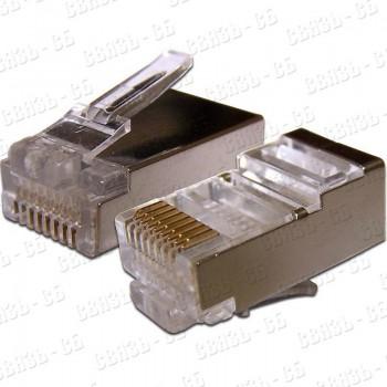 Разъем Gembird коннектор кат 5, экранированный RJ45 FTP8P8C(100 шт. в уп.)
