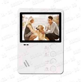 AltCam VDP431. Монитор видеодомофона. Экран 4,3 дюйма, механические кнопки. Подключение 2-х вызывных