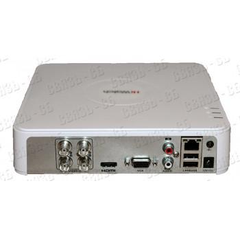 DS-H204QA, 4-х канальный гибридный HD-TVI регистратор для  аналоговых, HD-TVI, AHD и CVI камер + 1IP