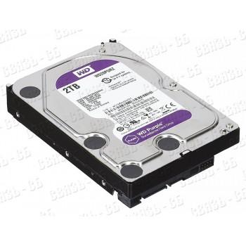 Жесткий диск WD Purple WD20PURZ, 2Тб, HDD