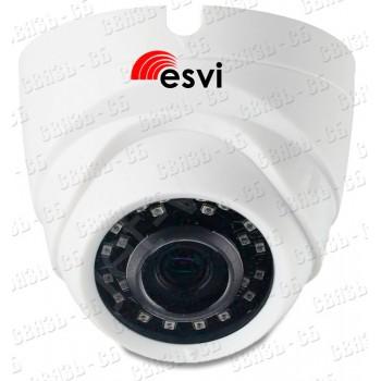 EVC-DL-S20-P/A/C купольная IP видеокамера, 2.0Мп, f=2.8мм, POE, аудио вх., SD