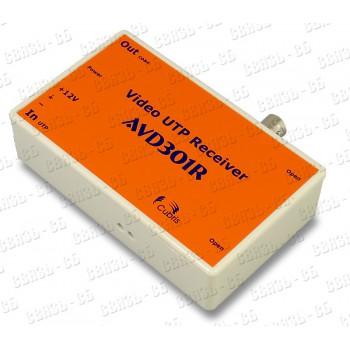 Приемник по витой паре AVD301R, индикация видеосигнала и питания, грозозащита