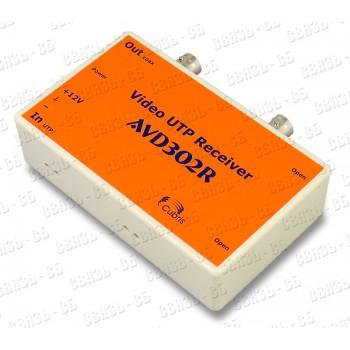 Приемник по витой паре AVD302R (2 канала в 1 корпусе), индикация видеосигнала и питания, грозозащита