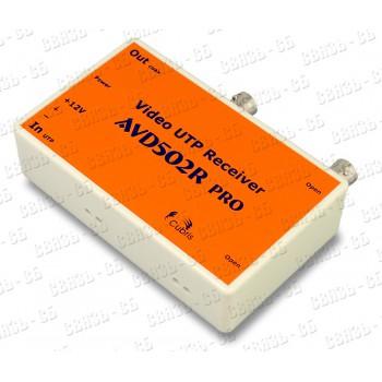 Приемник по витой паре AVD502R PRO (2 канала в 1 корпусе), индикация в/сигнала и питания,грозозащита
