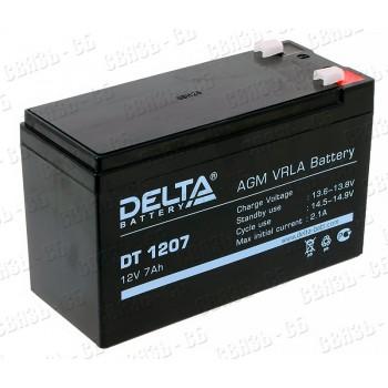Аккумулятор АКБ Delta DT 1207