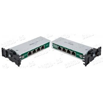 NSBon-15  Устройство защиты линий Ethernet 10/100/1000M + PoE, 4 порта. патч-корд 4 шт.