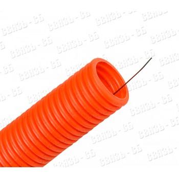 ТГ 16 мм. тяжелая оранж.ПВХ гофр. d=16мм. мм.протяжка