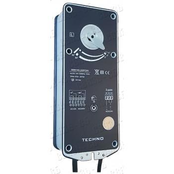 TECHNO NS-30DF/230V, 30Nm, привод противопожарный реверсивный 2/3 позиционным управлением, с конце