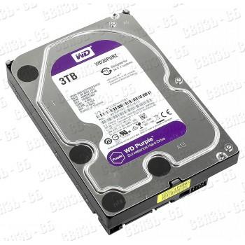 "Жесткий диск WD Original SATA-III 3Tb WD30PURZ Video Purple (5400rpm) 64Mb 3.5"""
