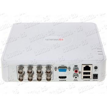 DS-H208QА, 8-ми канальный гибридный HD-TVI регистратор c технологией AoC (аудио по коаксиальному каб